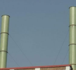 潍坊玻璃钢烟囱高40米烟囱